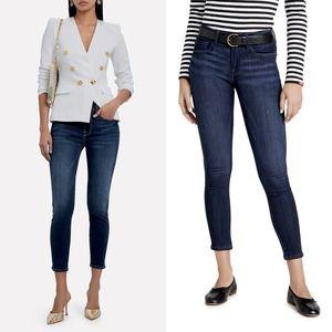 FRAME Denim Le Skinny De Jeanne Crop Blue Jeans